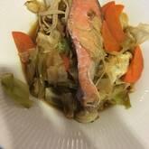 鮭と野菜の蒸し煮