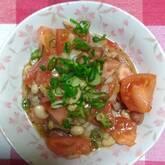 トマトと豆のビネガーサラダ