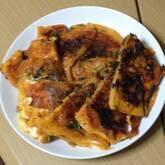 ニラ納豆のチヂミ