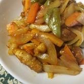 鶏と野菜の酢豚風