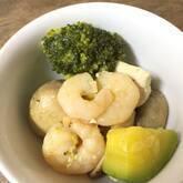 エビとブロッコリーの塩炒め