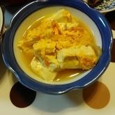 キムチと豆腐の卵とじ