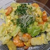エビと卵の炒め物