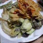 キスと春野菜の天ぷら