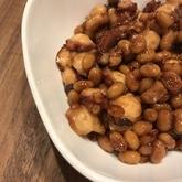 大豆とタコのショウガ煮