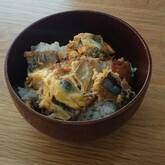 サンマ缶の卵とじ丼