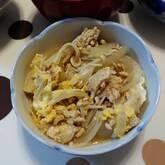 鶏ひき肉の親子丼
