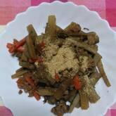 豚肉と根菜の甘辛炒め煮