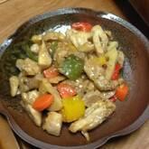 鶏と野菜の黒酢煮