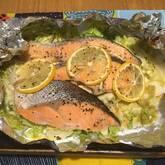 塩鮭のホイル焼きレモン風味