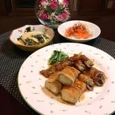 高野豆腐とナスの豚バラ巻き