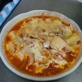 チーズチキンのトマト煮