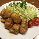 鶏のつるりんショウガ焼き