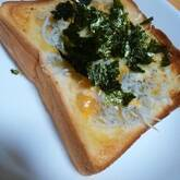シラスとチーズの和風みそトースト