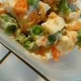 スナップエンドウと卵のサラダ
