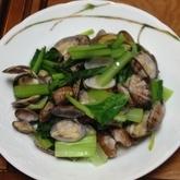 アサリと小松菜の酒蒸し