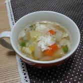 たっぷり卵白のスープ
