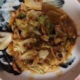 キャベツとひき肉の炒め物