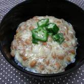 山芋納豆ご飯