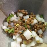 塩もみ大根納豆