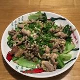 薄切り豚肉のマヨ炒め