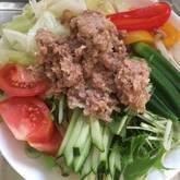 肉みそ素麺の献立