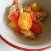 鶏肉とジャガイモのトマトチーズ煮