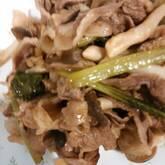 豚肉と白ネギの炒め物