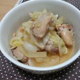 鶏もも肉と白ネギのポン酢炒め