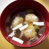 鶏団子入り汁