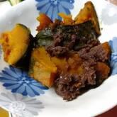 カボチャと小豆の甘煮