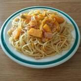 カボチャのクリームスパゲティー
