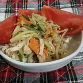 たっぷり生野菜の春雨サラダ