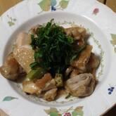 鶏もも肉とオクラの梅煮
