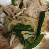 モヤシと豚しゃぶの中華和え