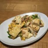 豆腐とツナの卵とじ