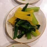 小松菜とたくあん和え