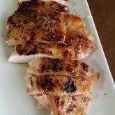 鶏肉のパリパリ焼き レモンバターソース