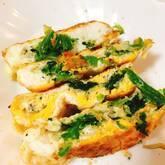 ホウレン草とシラスの卵焼き