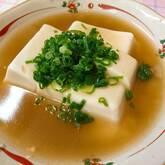 豆腐のショウガあんかけ