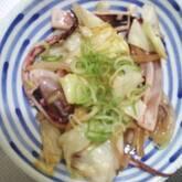 イカとキャベツの焼き肉ダレ炒め