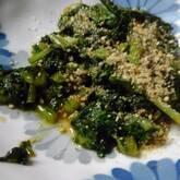 ご飯のお供に カブの葉のショウガみそ炒め