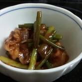 牛肉とニンニクの芽炒め