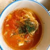 豆腐と卵のトマトスープ