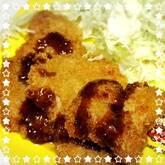 豚ヒレ肉のチーズ風味ソースカツ