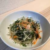 玉ネギとワカメのポン酢サラダ