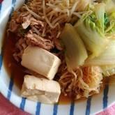 豚肉のすき焼き風煮物