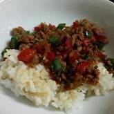 タケノコのガパオご飯