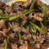 牛肉の中華炒め