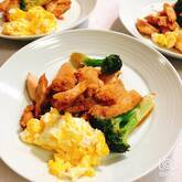 鶏とブロッコリーの炒め物